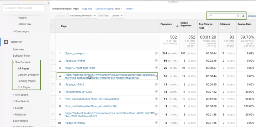 Query parameters google analytics