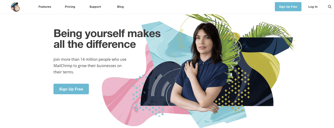 mailchimp new homepage