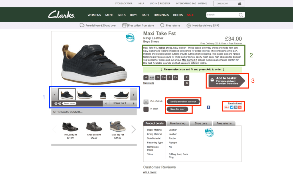 product page examples