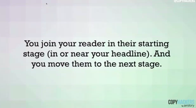 headlines should match each stage of the awareness.