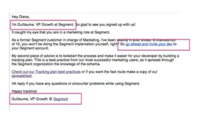 nurturing emails by Segment