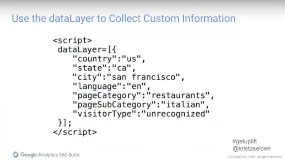 data layer google analytics