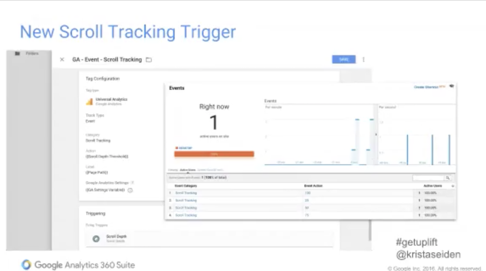 new scroll trigger tracking