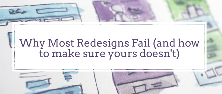 how to do a redesign the right way