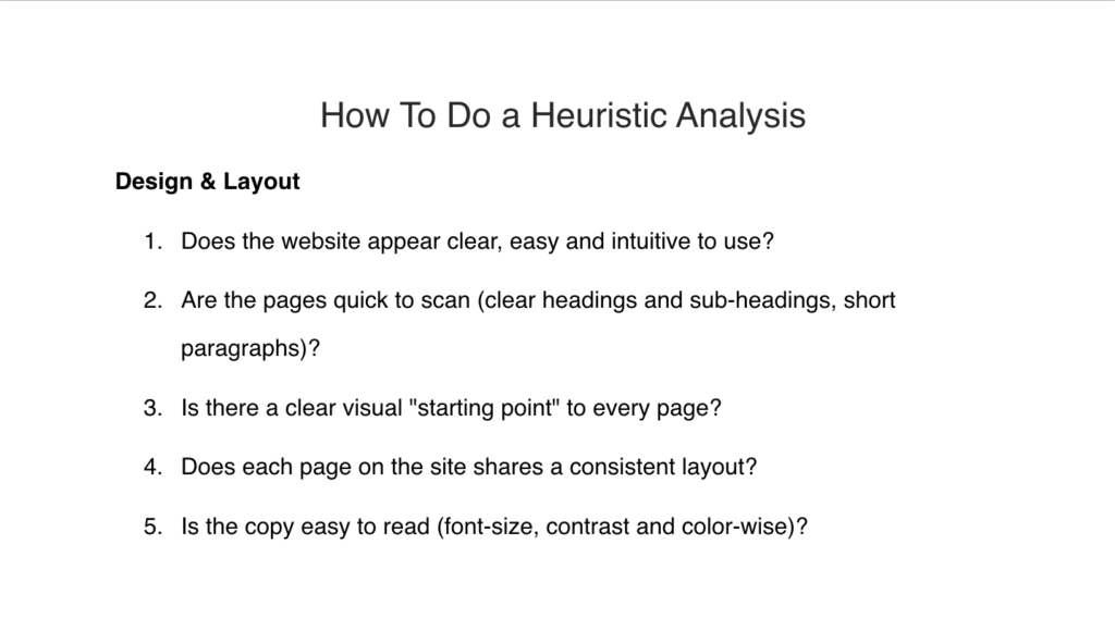 How to Run a Comprehensive Heuristic Analysis on Your Site (+